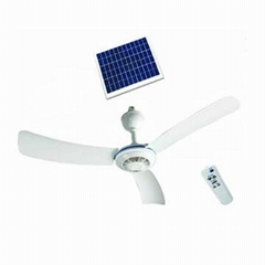 56 Inches Solar Rechargeable Ceiling Fan with Remote Control and Brushless Motor