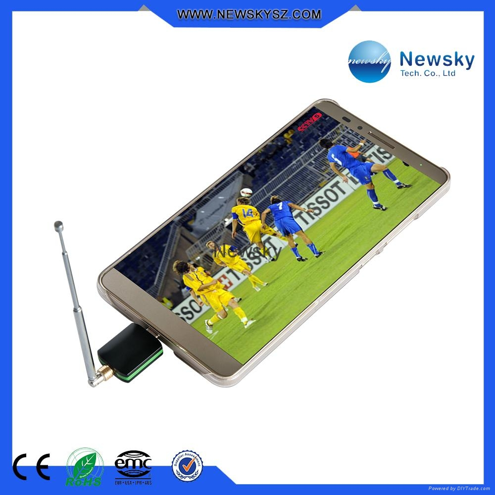 DVB-T ISDB-T MPEG4 Pad TV Tuner Support Android OS 4.1 or Above 4