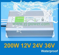 Led waterproof power supply 12v 200w