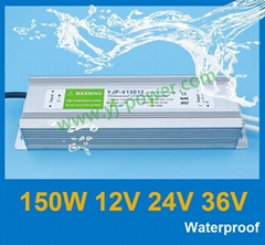 wapterproof power supply 150W 12v