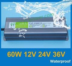 waterproof led power supply 60W 12v 5a