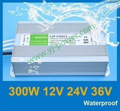 Led waterproof switching power supply 12v 300w