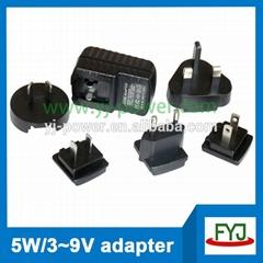 Interchangeable plug usb charger 5v 7v 9v 12v