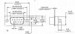 D-SUB 9针滤波连接器