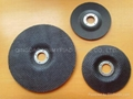 Glassfibre backing plate for flap disc