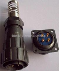 FQ24型大電流防水插頭,面板式插座