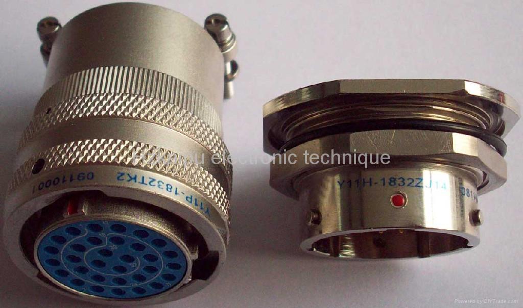 Y11H系列圆形密封式电连接器,航空插头座 1
