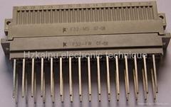 F型欧式矩形电连接器,接插件