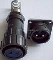 FQ24型大电流防水插头,面板