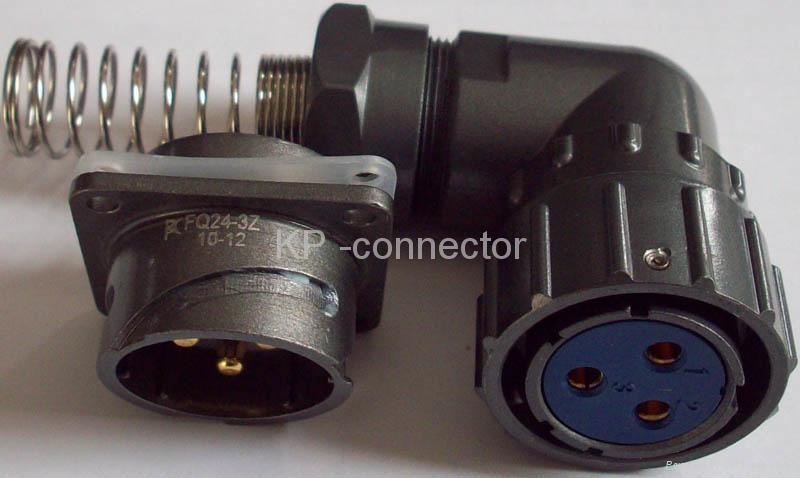 FQ24-3防水型90度弯头圆形电连接器 2