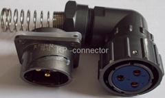 FQ24-3防水型90度彎頭圓形電連接器