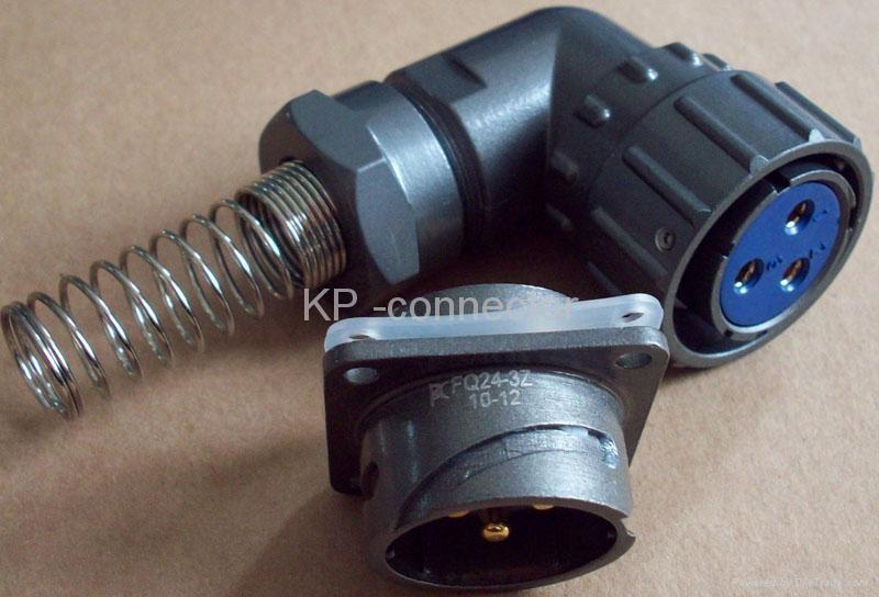 FQ24-2防水型90度弯头圆形电连接器 1
