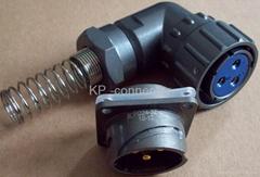 FQ24-2防水型90度彎頭圓形電連接器