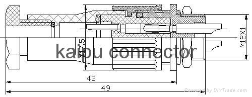 FS2型防水电连接器,防水插头 5