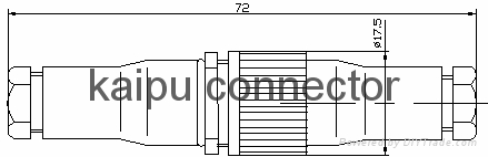 FS2型防水插头座,防水电连接器 2