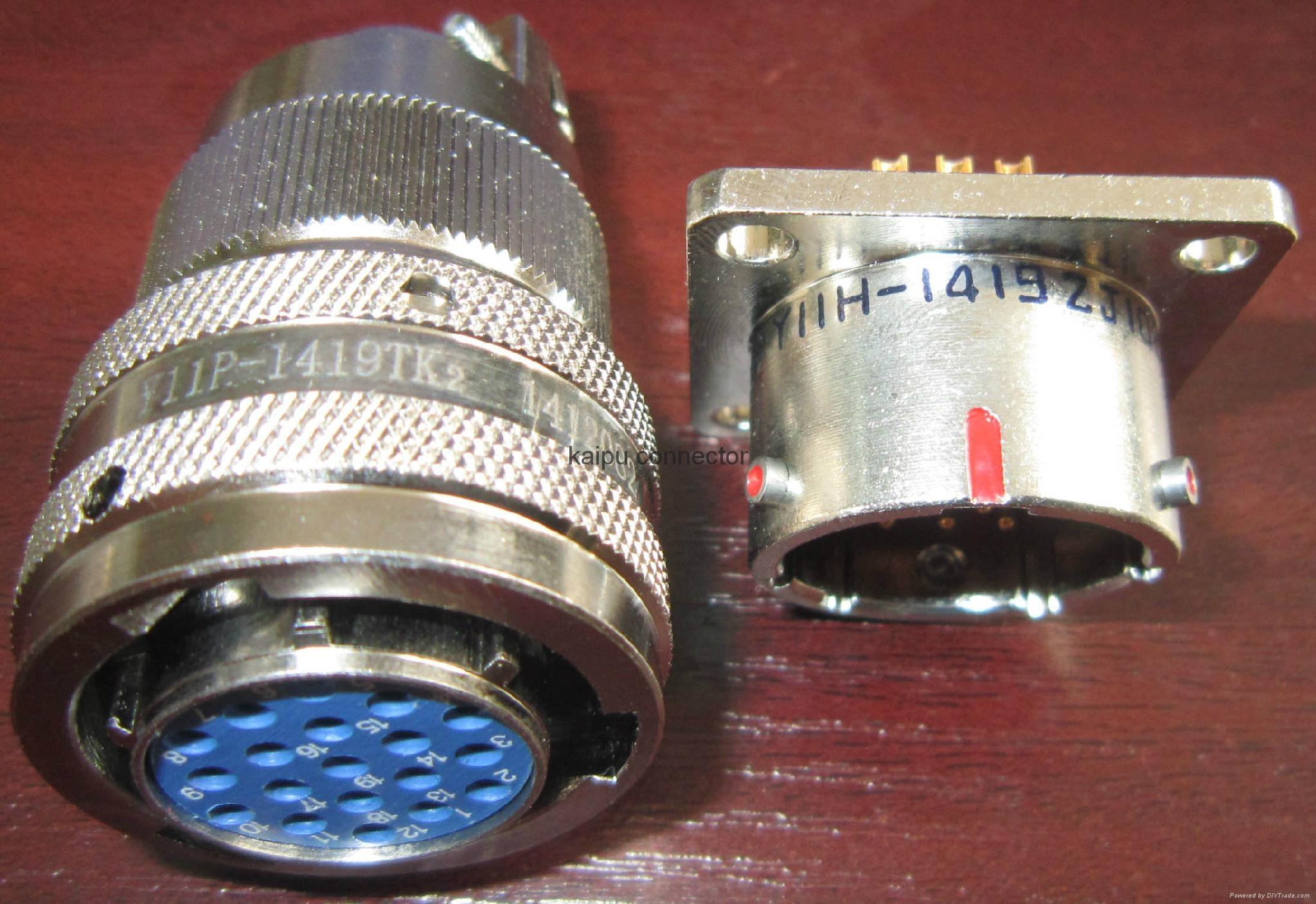 Y11系列圆形密封式电连接器,航空插头座 2