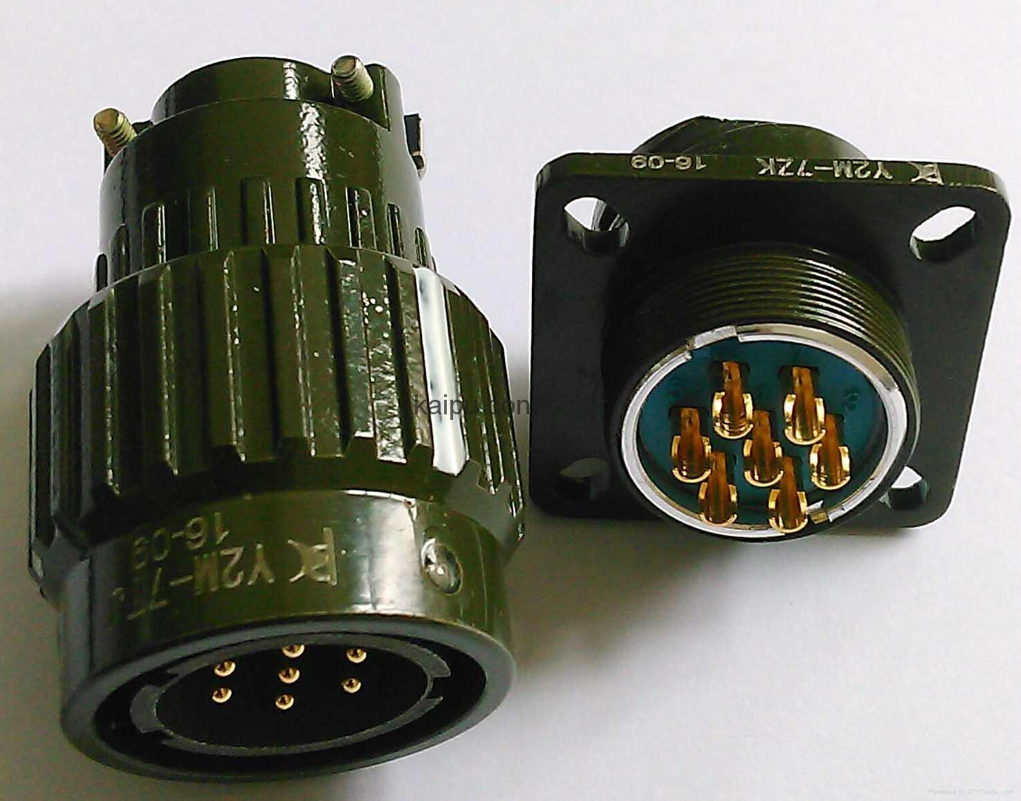 Y2M系列圆形电连接器,电缆对接式插头座 2