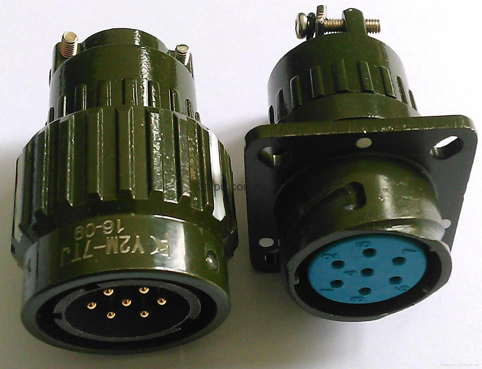 Y2M系列圆形电连接器,电缆对接式插头座 4