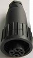 KP32型圆形塑料外壳防水4芯插头 3