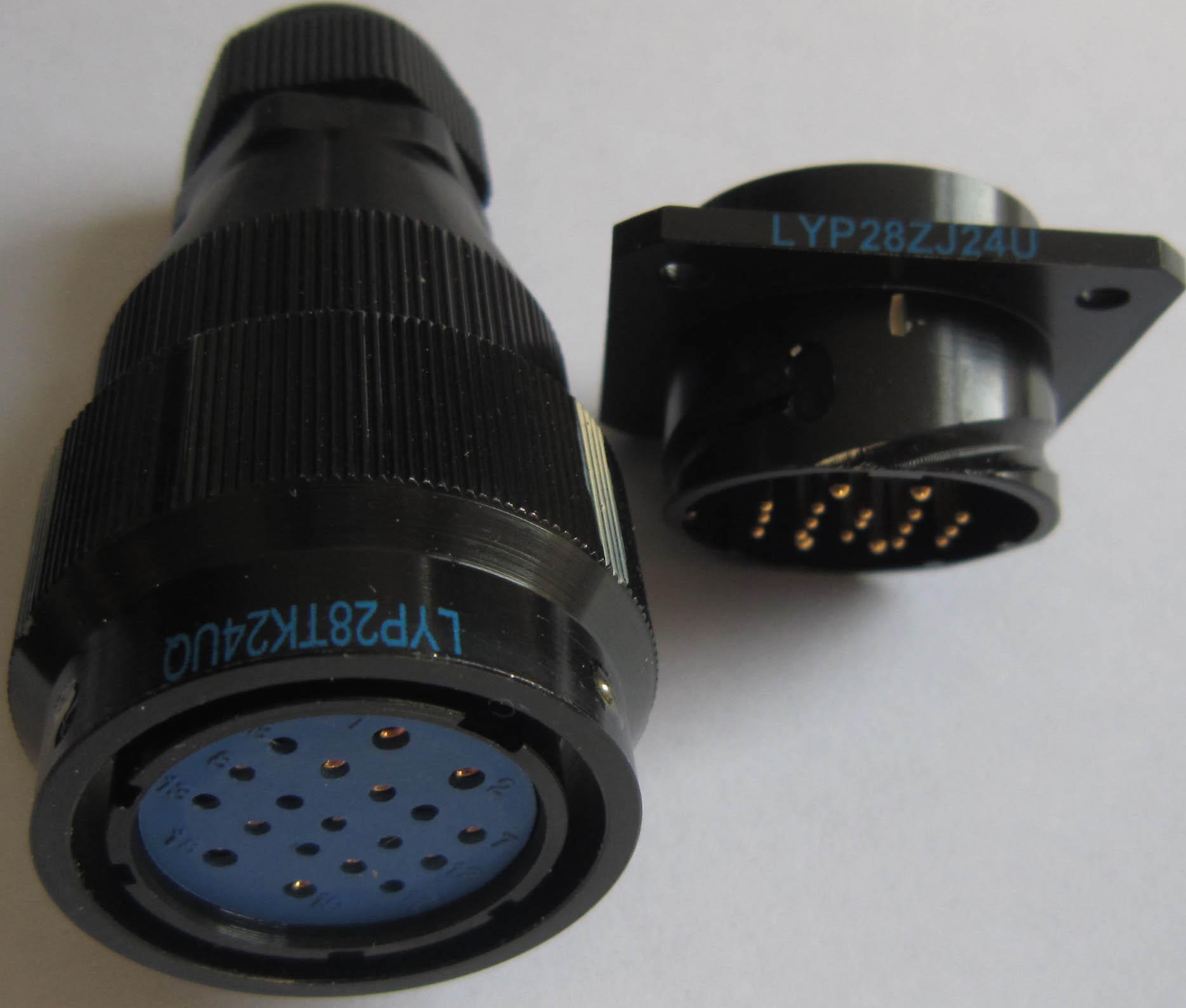 LYP28系列圆形电连接器,航空插头座 4