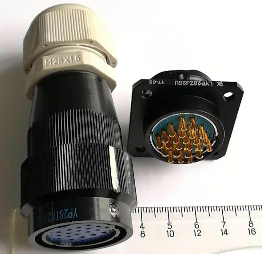LYP28系列防水圆形电连接器,航空插头座 4