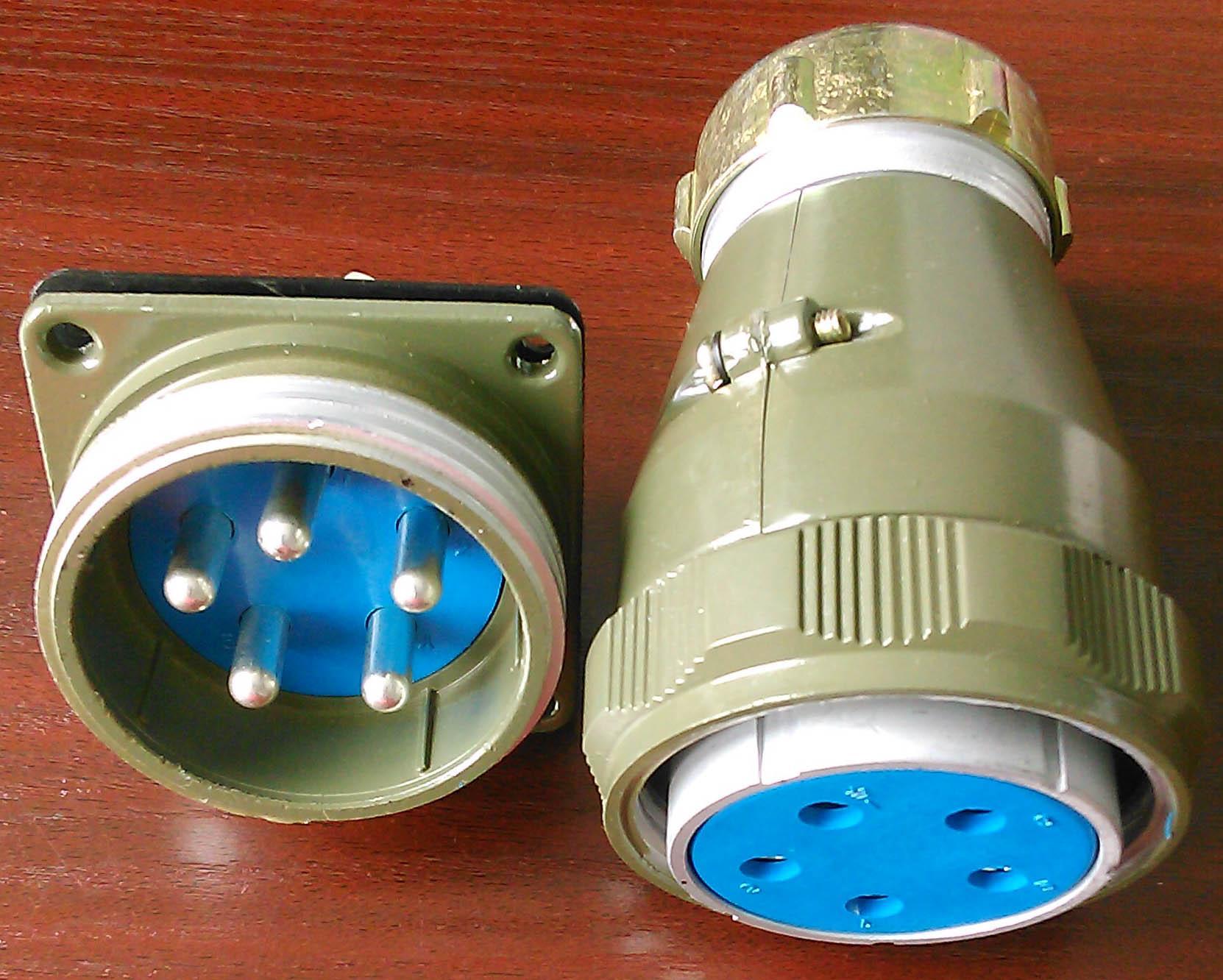 YD55系列圆形电连接器,防雨航空插头 4