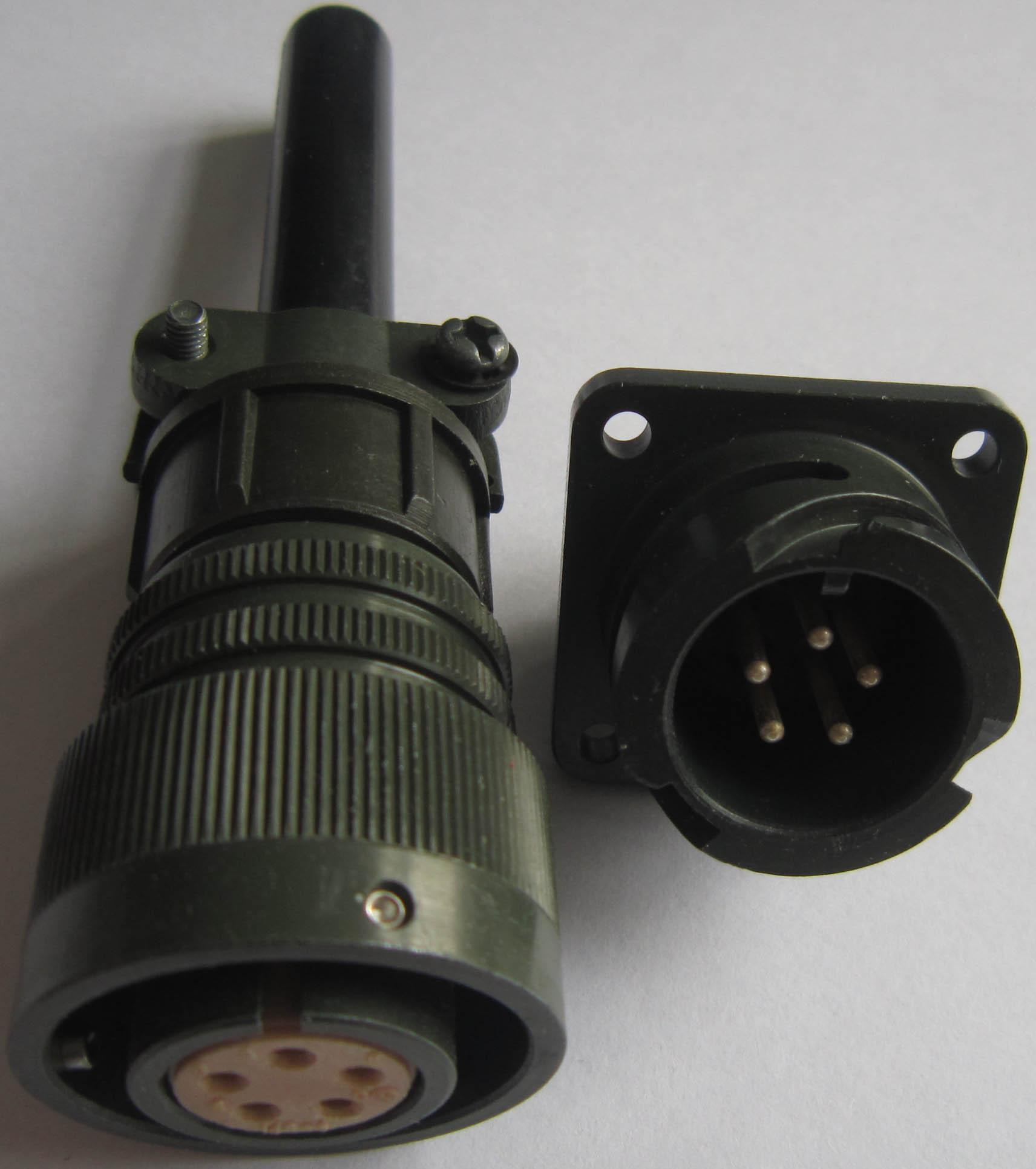 卡口插拔电连接器,航空插头 2