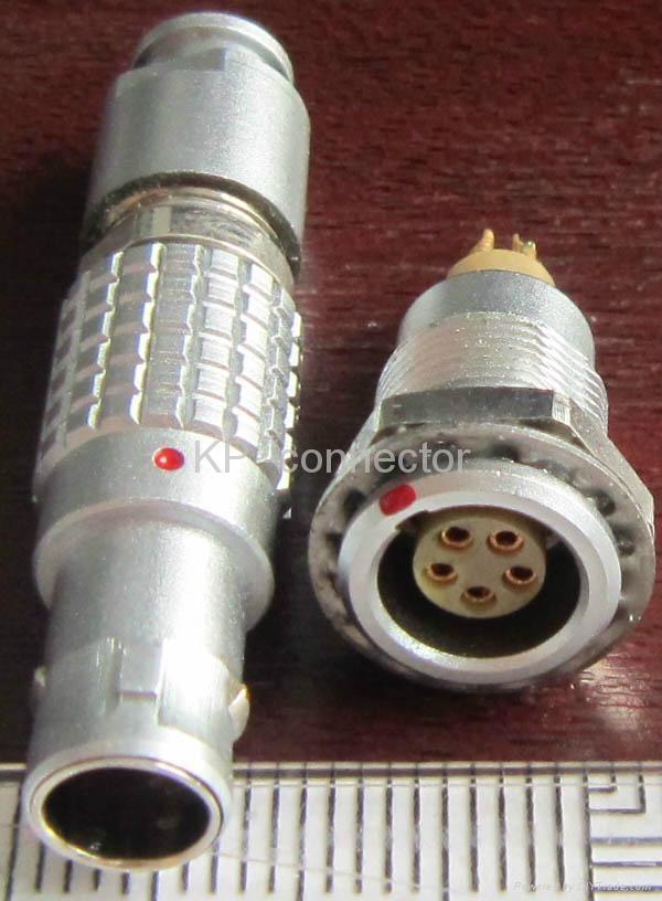 直拔式电连接器,推拉直锁航空插头 4
