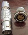 直拔式电连接器,推拉直锁航空插头 2