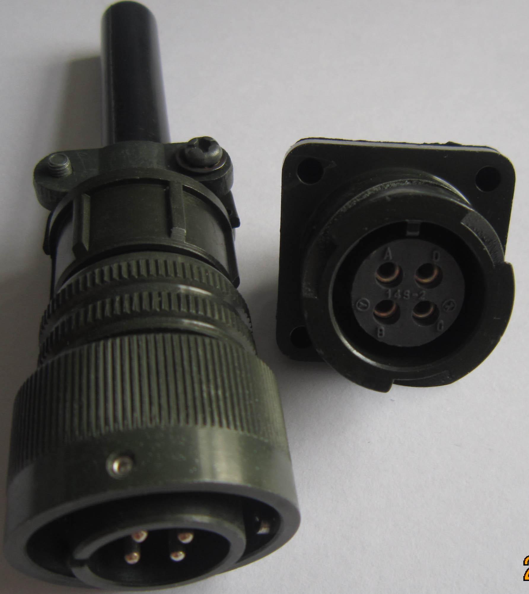 卡口插拔电连接器,航空插头 4
