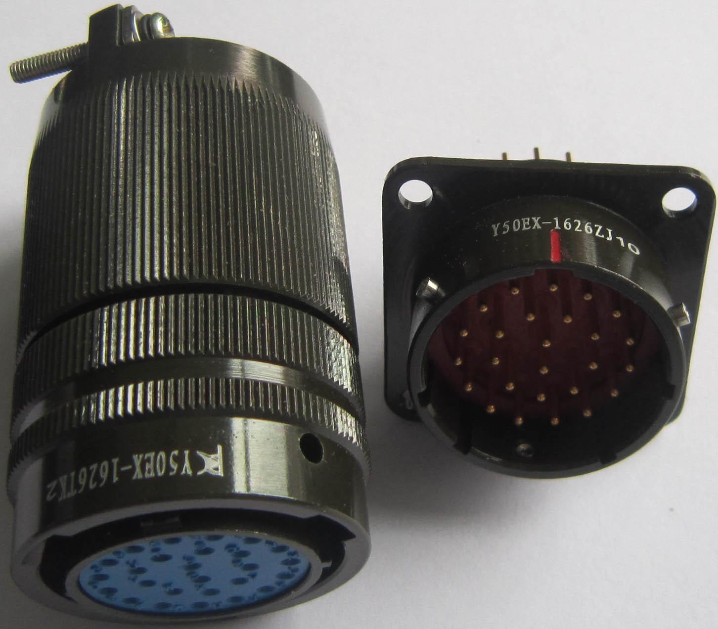 Y50EX-1626 Circular connectors as MIL-C-26482 series 1