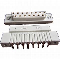 J15型矩形栅栏式孔电连接器