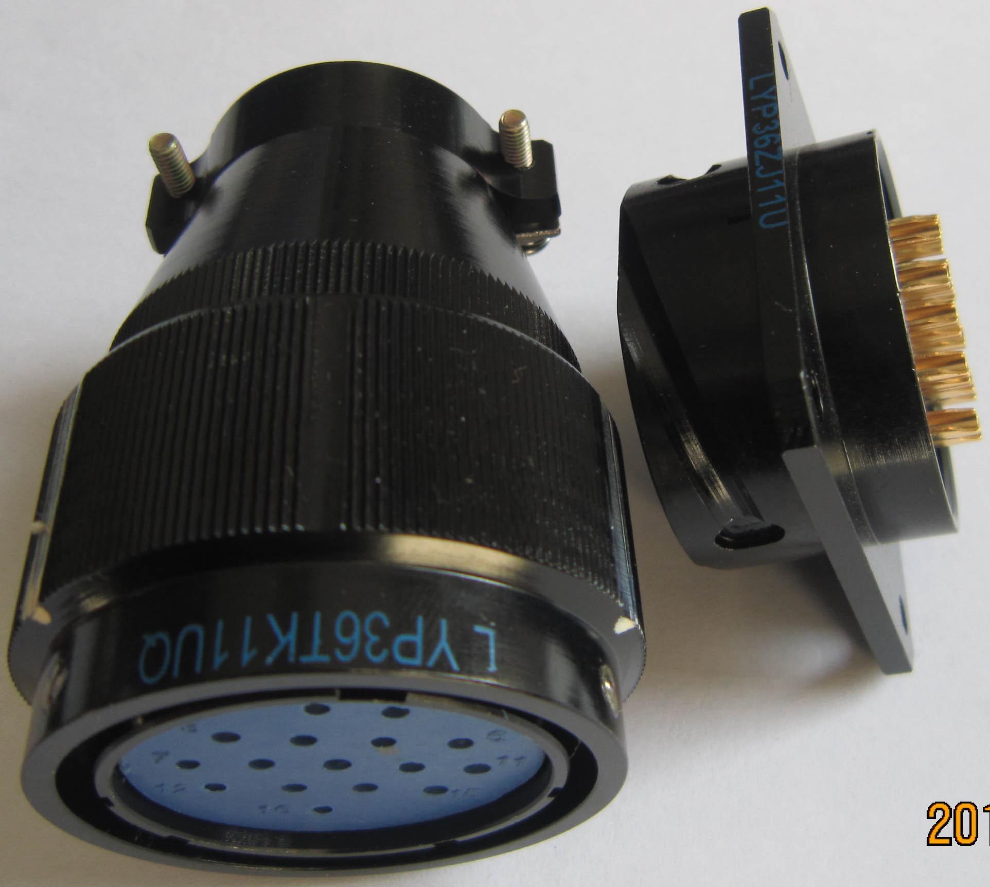 LYP36系列防水圆形电连接器,航空插头座 5