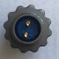 FQ14圆形螺母固定式插座带防水盖 2