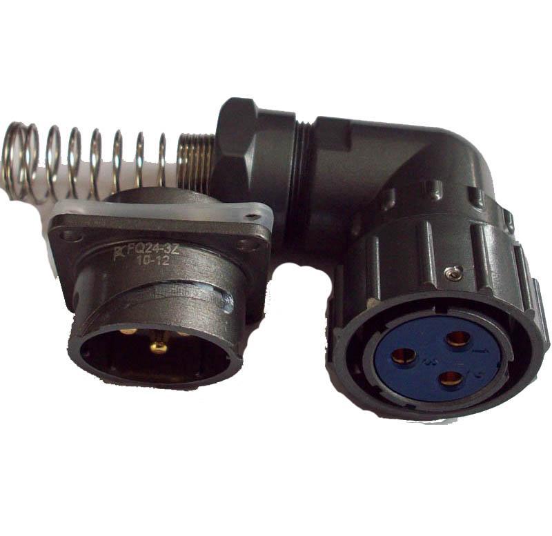 FQ24-3 angle circular connectors,water proof connectors