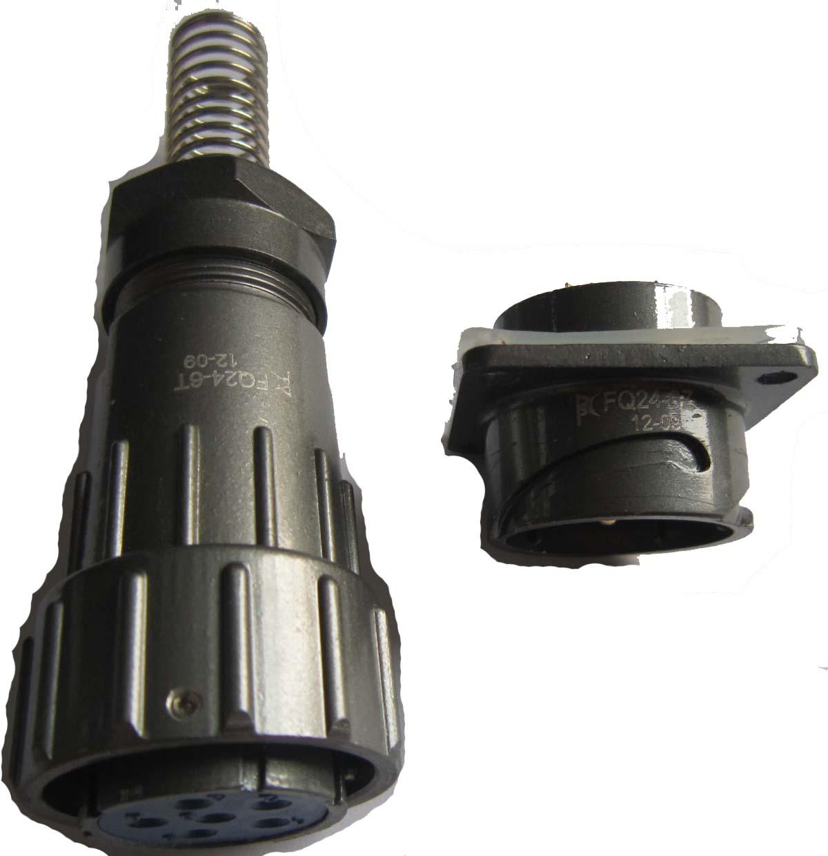 FQ24型大电流防水插头,面板式插座 6