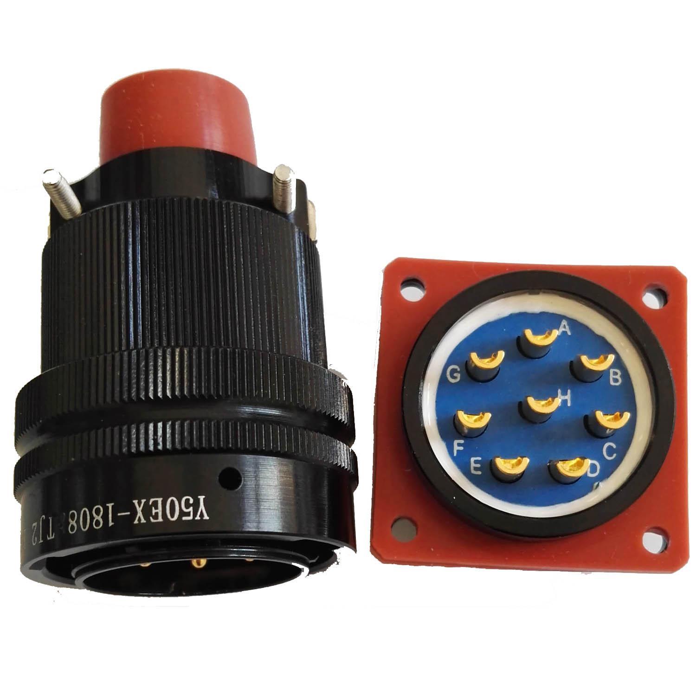 仿美军标系列圆形电连接器,航空插头座 6