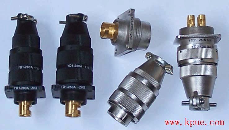 YD1系列圆形大电流电连接器,电源插头座 1