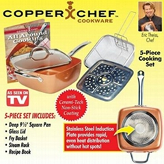 Copper Chef Non-stick Cookware 5-Piece Kit