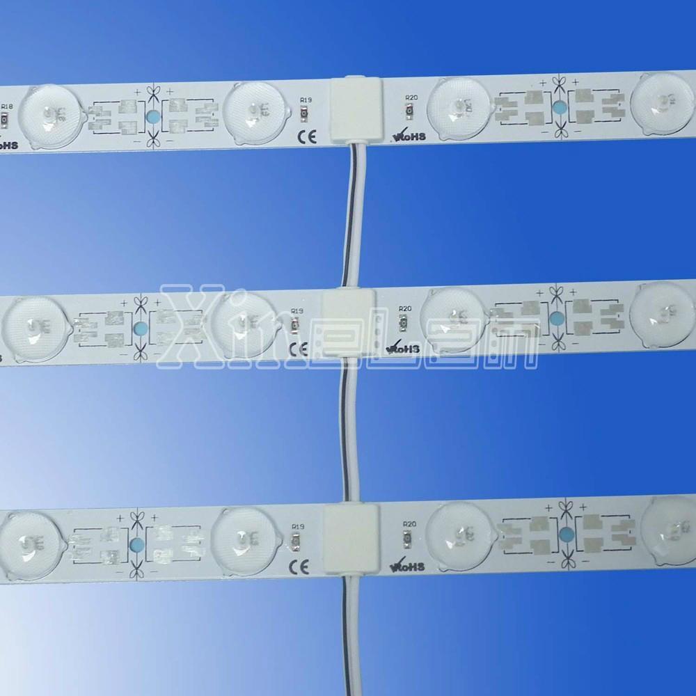 SMD2835 DC24V rigid pcb LED light bar with lens  1