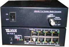 DA-HUB-8 以太網集線器/支持BNC銅軸電纜