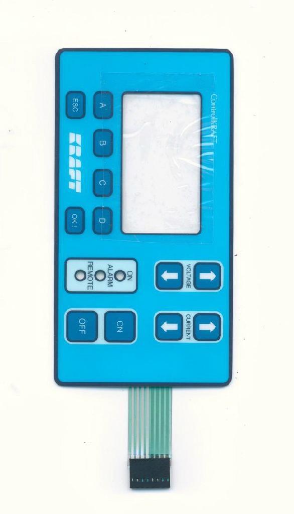 防刮划薄膜開關面板 2
