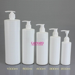 JH-SE-132-round white plastic pump bottle