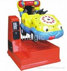 Telephone car kiddie ride game machine