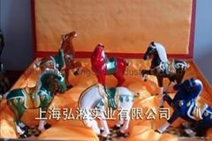 唐三彩六骏马
