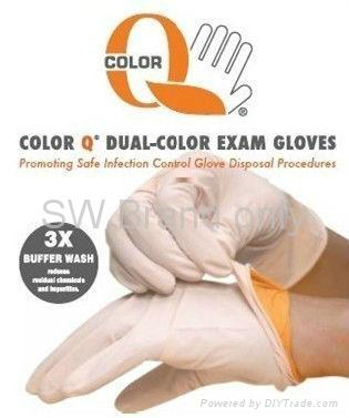 SW Brand Color-Q DUAL-Color Nitrile Exam Gloves-Powder Free 1