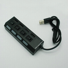 USB2.0 4口带开关HUB