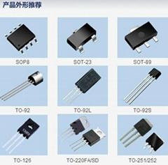 晶体三极管S8550丝印2TY