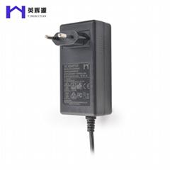 欧规插墙式电源适配器 安防监控12V4A过UL认证电源适配器