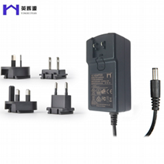 稳压转换头12V5A能效6级移动开关电源适配器CE/UL/PSE等认证电源